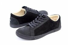 UGG KARINE SNAKE BLACK SNAKE EMBOSSED LEATHER TENNIS SHOES US SIZE 7 WOMENS