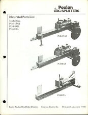 Factory Poulan P-26-15AR P-24-8AR P-26DTA Log Splitters Parts List Repair Manual