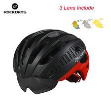 RockBros Helmet Unisex Road Bike MTB Cycling Helmet 57cm-62cm WT049 3 Lens