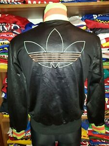 ADIDAS CHILE 62 JACKET SIZE S TRACKSUIT TOP SHINNY WET LOOK NEON (o194w)