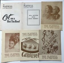 Broadway / 16 PLAYBILL programs from NYC productions 1935-1955 including