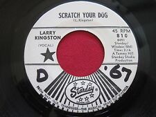 LARRY KINGSTON ~ SCRATCH YOUR DOG / MOVING HAND OF FATE~ STARDAY 810 PROMO 45 EX