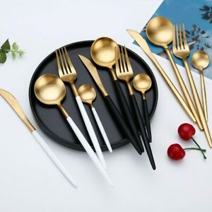 Kitchen Dinner Cutlery Set Tableware Dining Forks Knives Spoons Stainless Steel