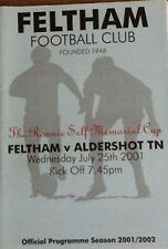 Feltham V Aldershot 01/02 -- Ronnie Self Memorial Taza.