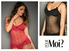 Pour Moi? Cabaret Fringe Camisole Top 3705 Black or Red * New Sexy Lingerie
