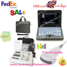 Portable Laptop Machine Digital Ultrasound Scannerconvex Probe 35mhz Us Seller