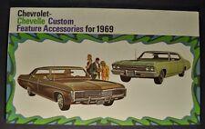 1969 Chevrolet Impala Chevelle El Camino Accessories Brochure Orig-Not A Reprint