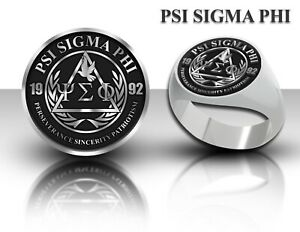 Psi Sigma Phi Fraternity Signet Ring Stainless Steel