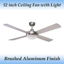 Genesis 52 inch (1300mm) Silver Ceiling Fan with Light