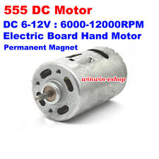 DC 6V-12V 12000RPM High Speed RS-555 Motor Electric Hand Drill Motor Boat Model