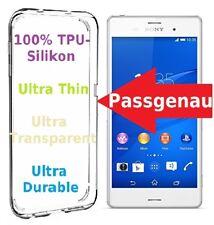 Sony Xperia Z3 Schutzhülle Silikon Bumper TPU durchsichtig Case Klar Tasche