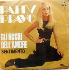 DISCO VINILE 45 GIRI PATTY PRAVO GLI OCCHI DELL AMORE SENTIMENTO ITALY