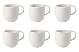 Villeroy & Boch NEW MOON Kaffeebecher 390ml 6er Set weiß Porzellan