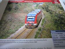 Archiv  Eisenbahnstrecken 438 Abzweig Nuttlar Winterberg