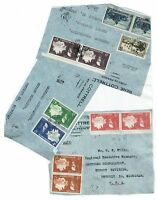 Martinique Three 1940s Airmail Covers to USA, Fronts Only, See note - Lot 101717