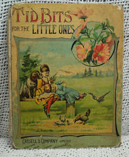 RARE antique old Victorian era Childrens book TID BITS FOR THE LITTLE ONES