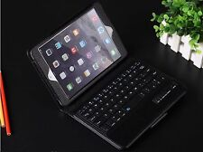 iPad Mini 2/3/4 Black Case Leather Built - In Magnetic Bluetooth Keyboard Folio