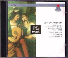 LETTERA AMOROSA D'India Monteverdi GUILLEMETTE LAURENS Rossi Piccinini Melli CD