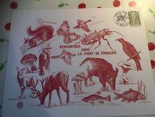 DOCUMENT PHILATHELIQUE GRAVURE ANIMAUX TRONCAIS 1976  N° 1866 PREMIER JOUR