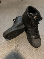 cheap for discount 83183 aa8cd ADIDAS Superstar Pro Model High Top All Black Leather Men s Size 11