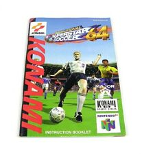 International Superstar Soccer 64 Spielanleitung Manual   NUS-NJPP-EUR   N64