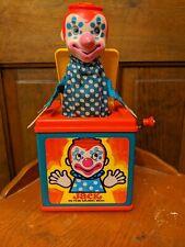 Mattel 1976 Jack in the Box Pop Up Clown Toy Works! Read Description!