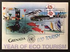 GRENADA ECO TOURISM STAMPS SHEET 2002 MNH SCUBA DIVER MARINE LIFE WILDLIFE BIRD