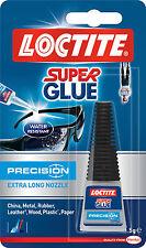 LOCTITE Precision Long Nozzle Transparent Waterproof Super Glue 5g 0.18oz