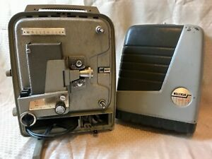 Vintage Wollensak 715 Reel-To-Reel 8mm Movie Projector W/Case Great Condition!