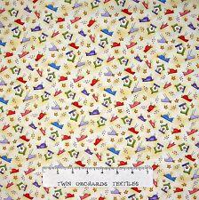 Happy Catz Fabric - Primitive Bird & Birdhouse Yellow - Red Rooster YARD