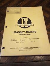 Iampt Service Shop Repair Manual It Mh 5a Massey Harris 21 23 33 44 555 Tractor