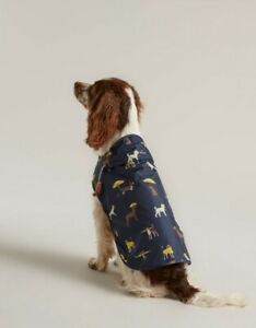 Joules Navy Dog Print Coat Water Resistant Raincoat Jacket Small Medium Large XL