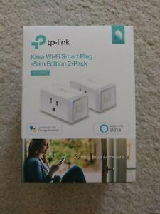 BRAND NEW TP-Link Kasa KP100 Smart Plug Mini, 2-Pack - Slim Edition 15A/1800W