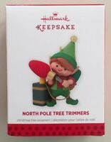 Hallmark 2013 North Pole Tree Trimmers First In Series Christmas Ornament Elf