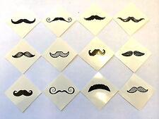 72 Mustache Moustache Fingerstache Tattoos Party Favors Teacher Supply