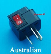 UK USA EURO to Australia China Universal Travel Adaptor AC Power Plug + Switch