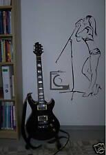 """Wandtattoo Musik Pop Rock """"Rocksängerin """" 59x97,5 cm"""