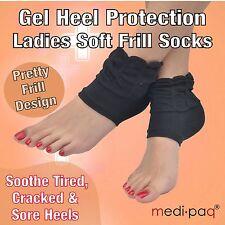 MEDIPAQ™ Pair Ladies Recovery Gel Heel Frill Socks - Sore Foot Protect Feet Spur