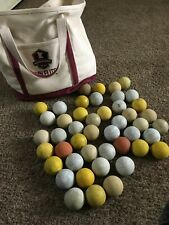 Lot of 46 Used Lacrosse Balls With Bag