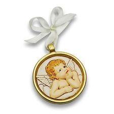Bomboniere 24 pz Medaglione angelo resina nascita battesimo comunione compleanno