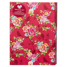 WHSmith Floral & Bird Print Hardcase Writing Set With Magnetic Closure Fastener