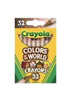 Crayola COLORS OF THE WORLD 32 Count Crayons Multicultural FREE SHIPPING