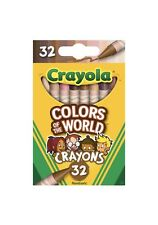 Crayola COLORS OF THE WORLD 32 Count Crayons Pack Box Skin Eyes+ Multicultural