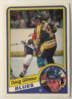 1984-85 O-PEE-CHEE #185 DOUG GILMOUR!!!!! (RC) BLUES!!!! NM!!!!