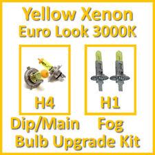 Warm White 3000K Yellow Xenon Headlight Bulb Set Main Dip Fog H4 H1 Kit