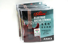 10 Sets of A503L Electric Guitar Strings Plated Steel Nickel Alloy Wound Strings