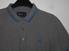 "Fred Perry ""stretch fit"" twin tipped polo shirt t-shirt slim M6273 medium M"