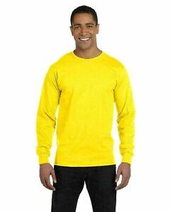 Hanes Men's 100% Cotton Long Sleeve Beefy-T® L/S Tee Shirt S-3XL 5186