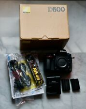Nikon D600 24.3MP Digital SLR Camera Body Only + MB D14 - Very low shutter count