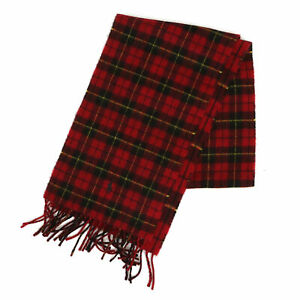 Polo Ralph Lauren 2-face Lambswool Scarf made in Italy - Plaid Red -